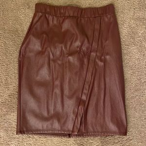 Faux Leather Charlotte Russe Skirt